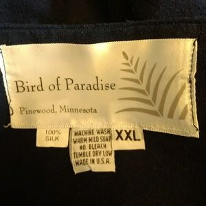 bird of paradise Jackets & Coats - Blue silk jacket